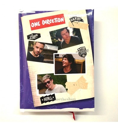 Diario One Direction All Group Formato Pocket Per Scuola Adattabile
