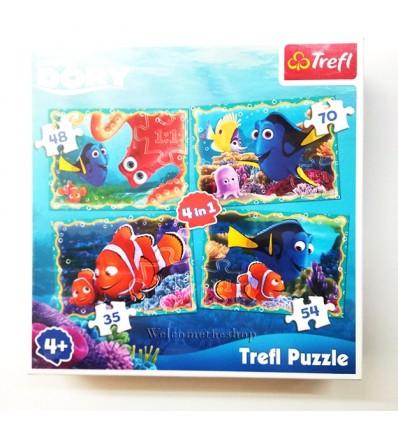 Puzzle Dory Alla Ricerca Di Nemo 4in1 Trefl