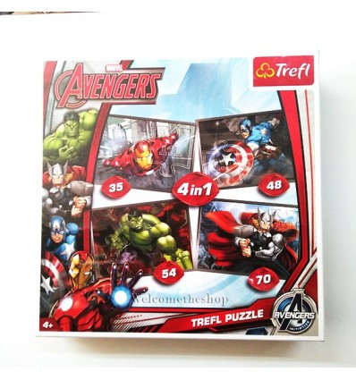 Puzzle Avengers Marvel 4in1 Trefl
