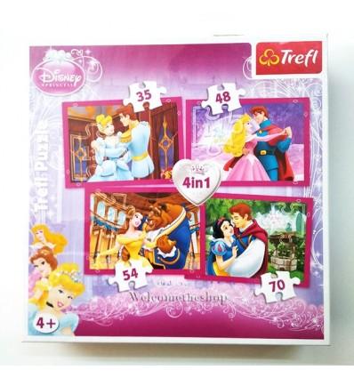 Puzzle Principessa Disney 4in1 Trefl