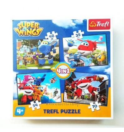 Puzzle Super Wings 4in1 Trefl