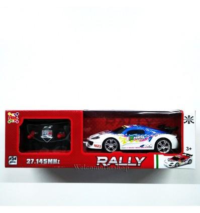 Rally Blu Bianco Radiocomando Apel Plastik