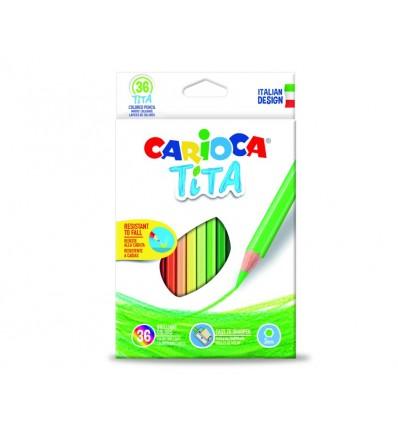 Carioca Tita Matite Colorate Esagonali da 36 Colori