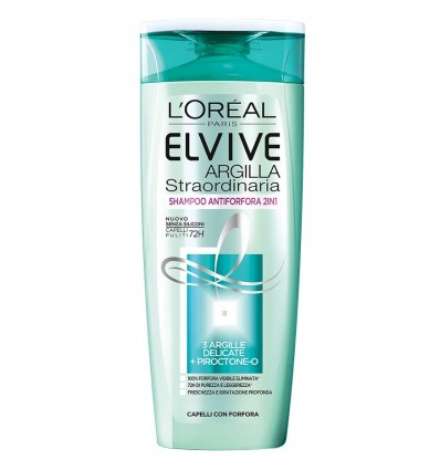 L'Oreal Paris Elvive Shampoo Argilla Straordinaria 2IN1 ML 250