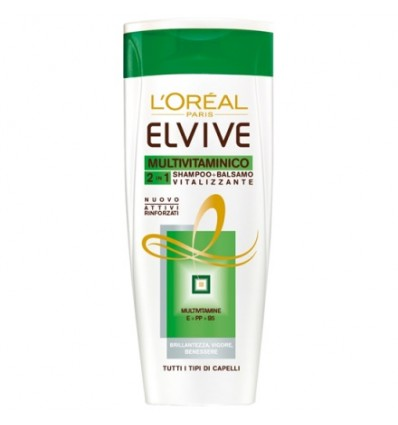 L'Oréal Paris Elvive Multivitaminico 2in1 Shampoo + Balsamo Vitalizzante ML 300