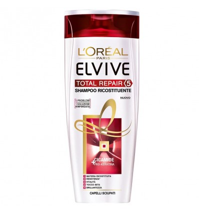 L'Oreal Paris Elvive Total Repair 5 Shampoo Ricostituente per Capelli Sciupati ML 250