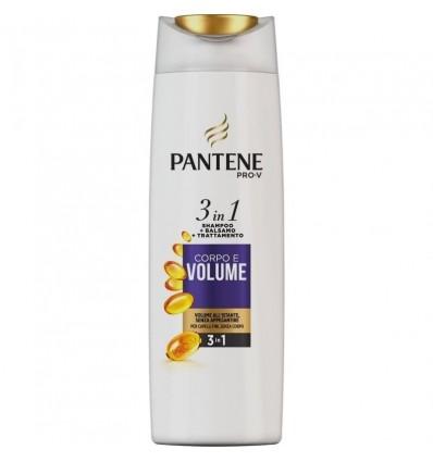 Pantene Pro-V 3in1 Shampoo + Balsamo + Trattamento Corpo e Volume per Capelli Fini ML 225