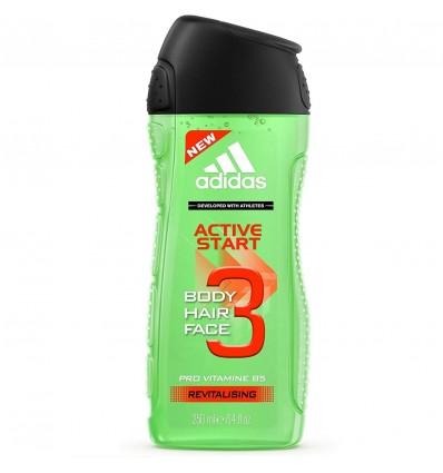 Adidas Active Start Body Hair Face Pro Vitamin B5 Revitalising ML 250