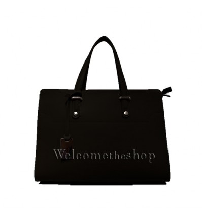 Ap00003 - Genuine Leather Tote Bag - shoulder strap - Made in Italy - Quality - friendly - Fashion Mood- Casual Personality