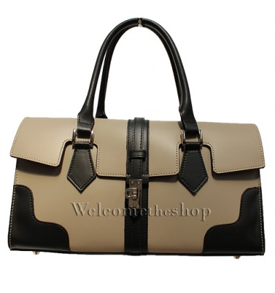 Ap00004 - Genuine Leather Handbag - shoulder strap - Made in Italy - Quality Design - Fashion Mood- Casual Personality