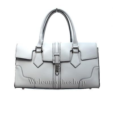 Ap00005 - Hand bag a mano con tracolla staccabile - vera pelle monocromatica - design lusso - stile raffinato