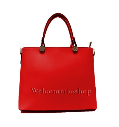 Ap00006 - Genuine Leather Tote Bag - shoulder strap - Made in Italy - Quality - friendly - Fashion Mood- Casual Personality