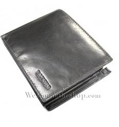 a22bff35e3 B00005 - Portafogli Uomo Valentini vera pelle morbido nero wallet bifold ...