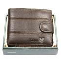B00006 - Portafogli Uomo Huawan vera pelle morbido con clip wallet bifold