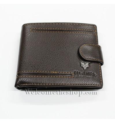B00007 - Portafogli Uomo Huawan vera pelle morbido con clip wallet bifold
