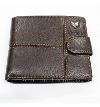 B00008 - Portafogli Uomo Huawan vera pelle morbido con clip wallet bifold