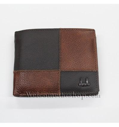 B00009 - Portafogli Uomo Qianxilu vera pelle morbido con clip wallet bifold