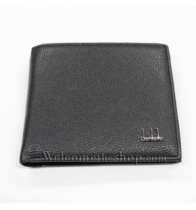 B00015 - Portafogli Uomo Denleilu vera pelle morbido con clip wallet bifold