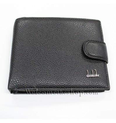 B00016 - Portafogli Uomo Denleilu vera pelle morbido con clip wallet bifold