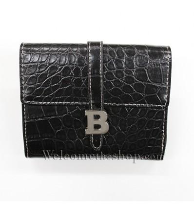 B00017 - Portafogli Uomo B vera pelle morbido con clip wallet bifold