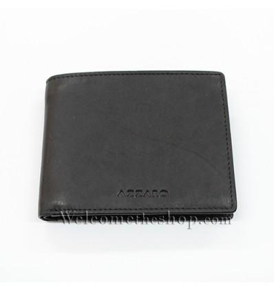 B00018 - Portafogli Uomo Azzarro vera pelle morbido con clip wallet bifold
