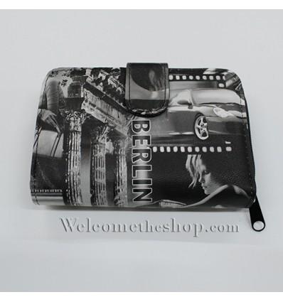 B00022 - Portafogli Donna Vintage ecopelle vintage spazioso morbido