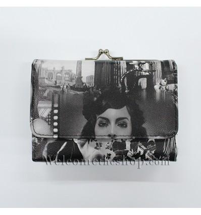 B00023 - Portafogli Donna Vintage ecopelle vintage spazioso morbido